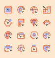 set icons banks money transactions vector image