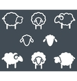 Sheep icon set vector image