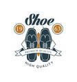 shoe shop premium and high quality logo design vector image vector image