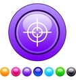 Sight circle button vector image