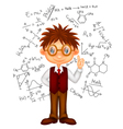 Smart boy cartoon vector image vector image