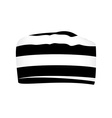 Striped prisoner cap vector image vector image