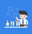 teacher or businessman experiment research vector image