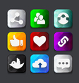 Web icons collection vector image vector image