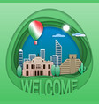 welcome to mexico travel concept emblem chichen vector image vector image