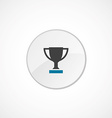winner cup icon 2 colored vector image