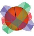 Basketball globe vector image