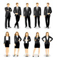 flat style business people vector image
