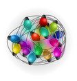 intricate garlands beautiful colorful holidays vector image