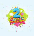 2 years vector image
