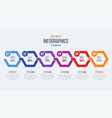 6 steps timeline infographic template with arrows vector image vector image