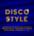alphabet in retro style disco font effect vector image vector image
