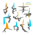 Anti-gravity yoga for women vector image vector image