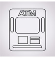 atm icon atm card slot icon vector image