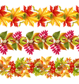 Autumn Leaves Seamless Border vector image vector image