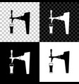 beer tap with glass icon isolated on black white vector image