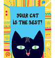 Best cat funny greeting card vector image