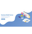business model canvas concept with paper document vector image vector image