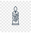 candle concept linear icon isolated on vector image vector image