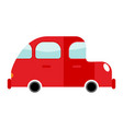 car red isolated transport on white background vector image