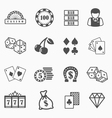 Casino and gambling icons set vector image vector image