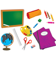 Classroom Items vector image