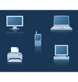 computer equipment vector image vector image