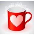 Cup with Heart Symbol vector image vector image