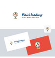 fan logotype with business card template elegant vector image vector image