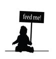 feed baby vector image vector image
