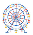 ferris wheel in a flat style on an isolated vector image vector image