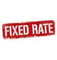 fixed rate sign or stamp vector image vector image
