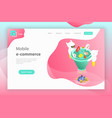 flat isometric landing page header of vector image vector image