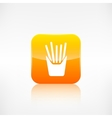 Fried potatoes icon Application button vector image
