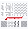 Geometrical stripped seamless pattern vector image vector image