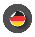 germany sticker with flag with long shadow vector image vector image