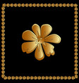 golden of flower floral element for vector image vector image