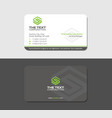 gray business card with green letter s vector image vector image