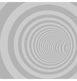 Grey Circle Striped Abstract Tunnel vector image