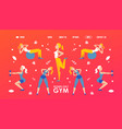 gym for women website design vector image vector image