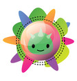 imzy logo inside a bubble and different colors vector image vector image