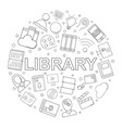 library and online library pattern vector image vector image