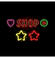 Light neon labels vector image vector image