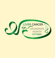 liver cancer awareness month is organised in vector image vector image