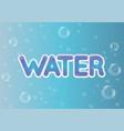 logo water text emblem vector image