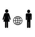 man and woman figures - world internet icon vector image vector image