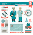 medical infographic elements vector image vector image