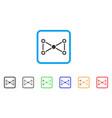 medical nodes framed icon vector image vector image