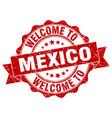 mexico round ribbon seal vector image vector image