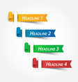 multicolor ribbons use for fill your headline vector image